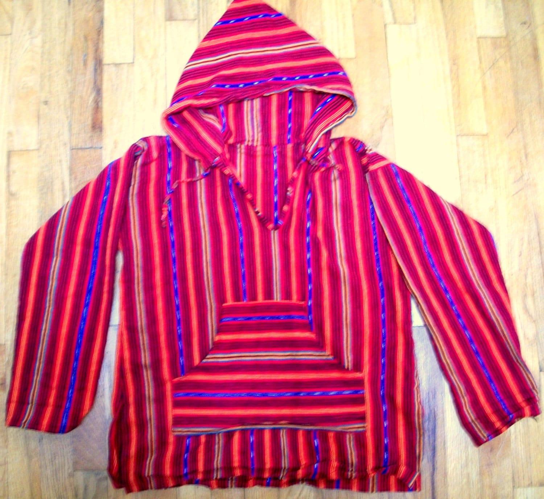 Drug Rug Shaman Stripes Pullover Hoody S By Evileyevintage