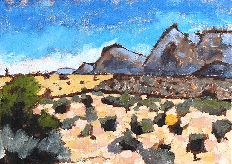 Red Rock Canyon Landscape Painting
