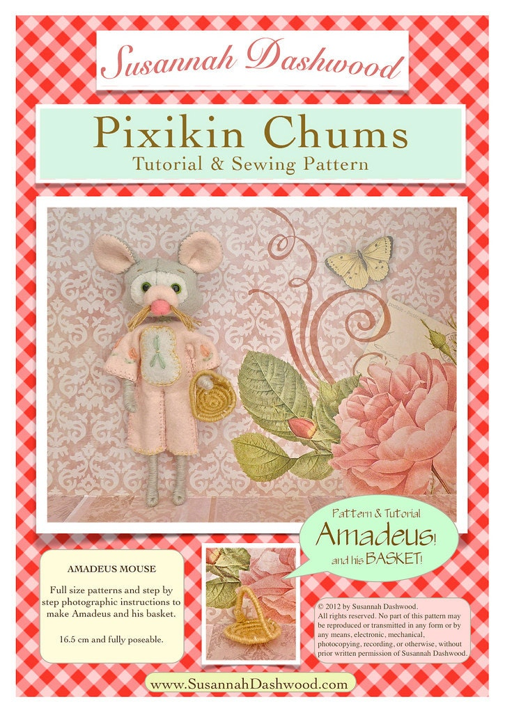 Amadeus mouse doll pattern and tutorial