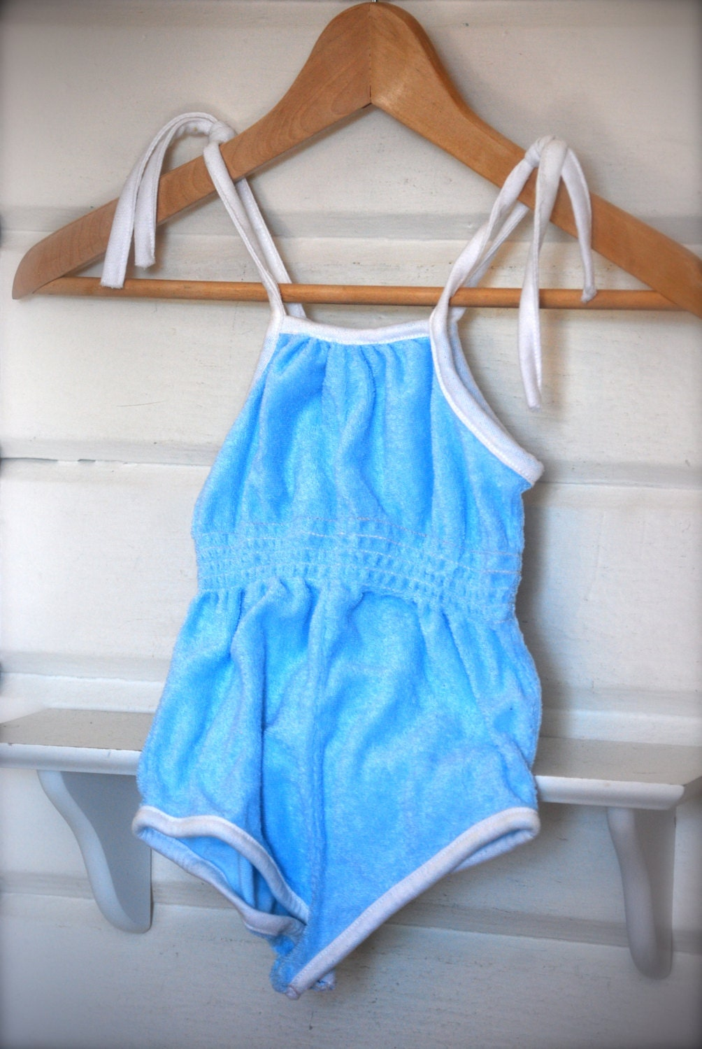 Vintage One Piece Terry Cloth Romper By Millebebe On Etsy