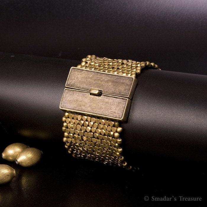 Bold Brass Cuff Bracelet