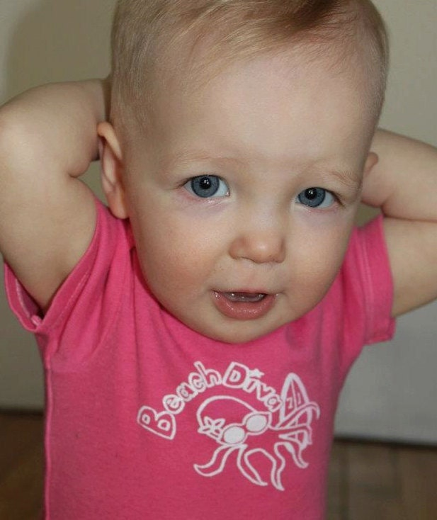 Pink beach diva onesie by Seventy1Percent on Upcycle Fever