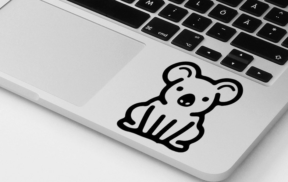 Funny macbook decal pro air koala bear vinyl sticker decal mural transfer graphic laptop notebook skin Asus HP Toshiba Dell decal