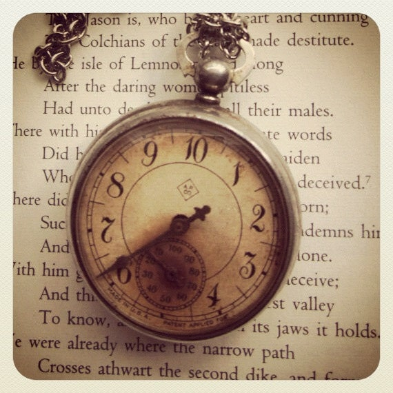 Walk it Off --Antique Steampunk Pedometer Necklace