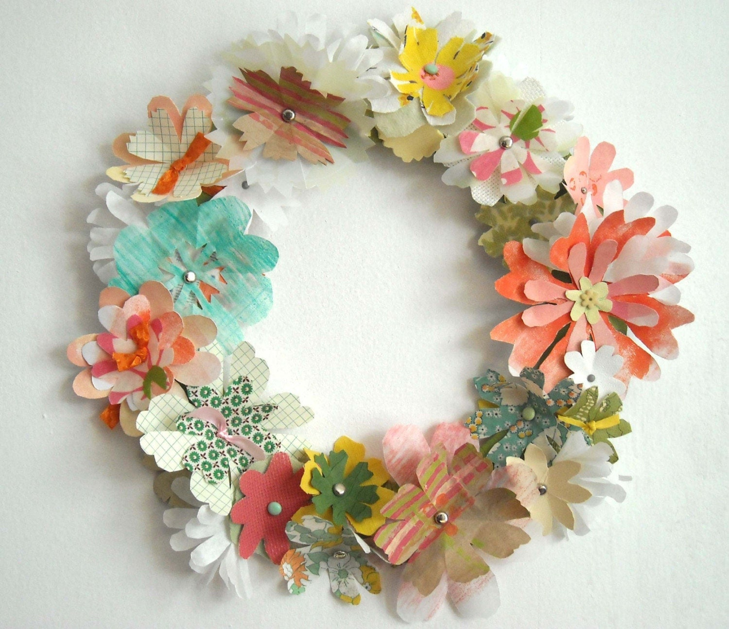 A snip of goodness spring wreaths for How to make door wreaths for spring