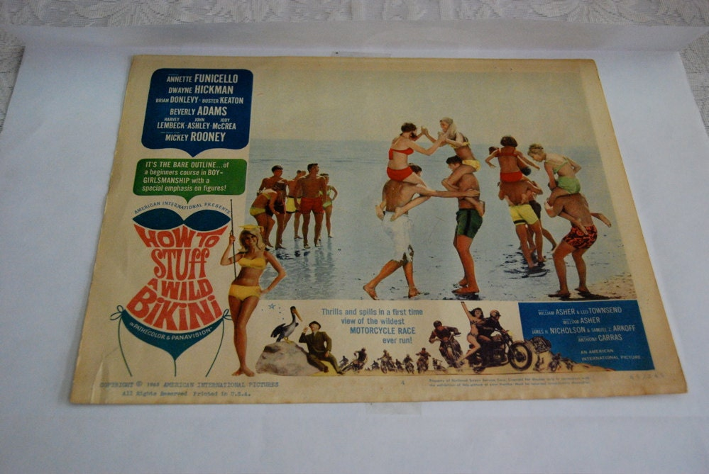 1965 Vintage Poster How to Stuff a Wild Bikini
