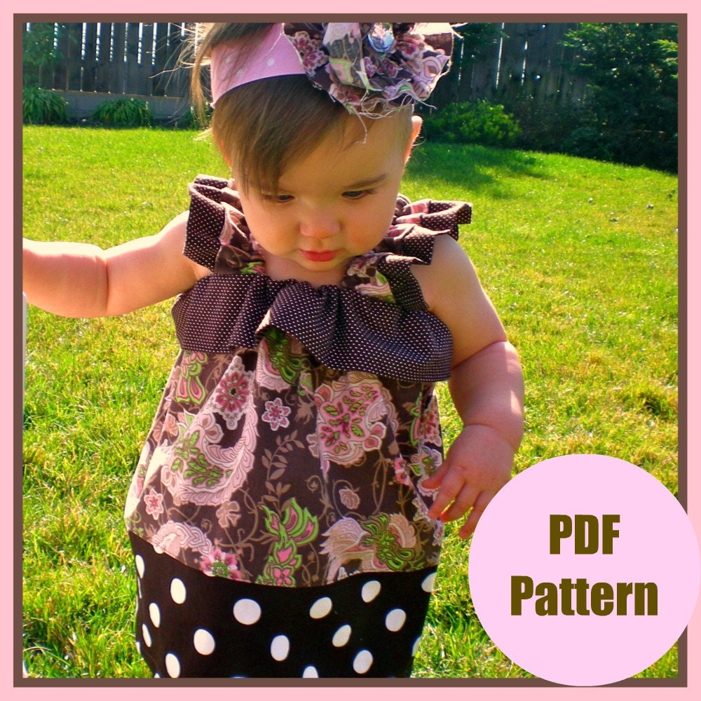 Dress Pattern PDF Sewing Pattern...The Hannah Dress...sizes 12m-5T, girls Baby toddler