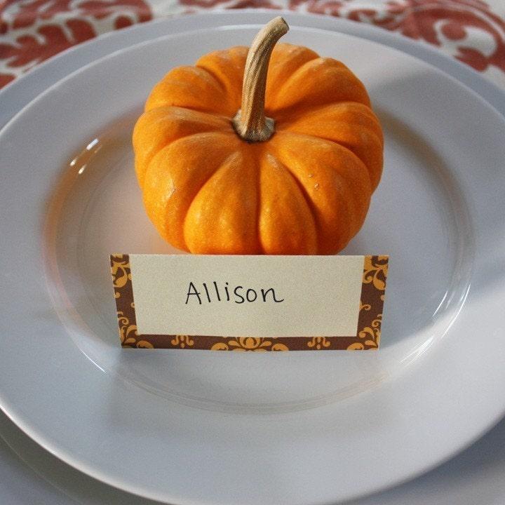 Printable Thanksgiving Tabletop Set- Posh Pumpkin