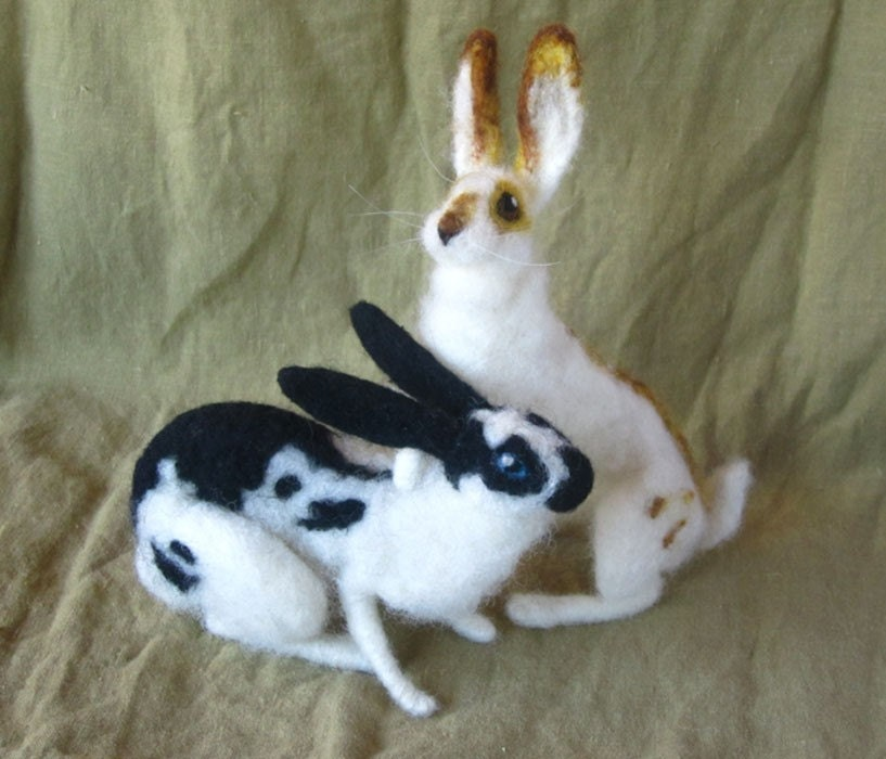 Needle Felted Rabbit, made just for you