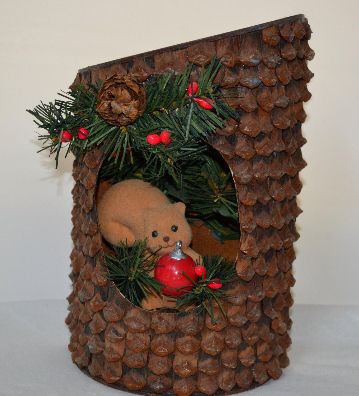 Vintage Christmas Wall Decor : Items similar to vintage christmas pinecone wall hanging