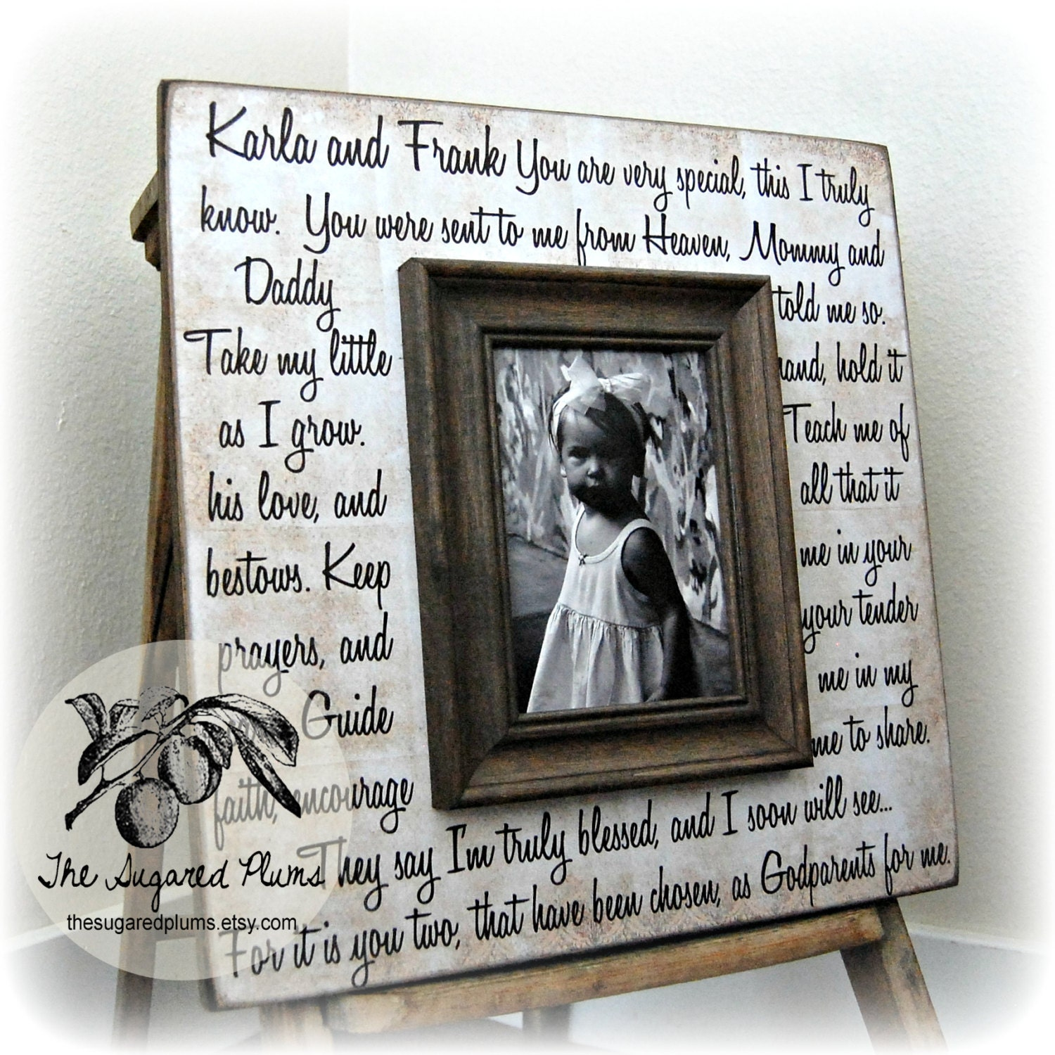 Godmother Gift Godfather Gift Godparent Gift by thesugaredplums