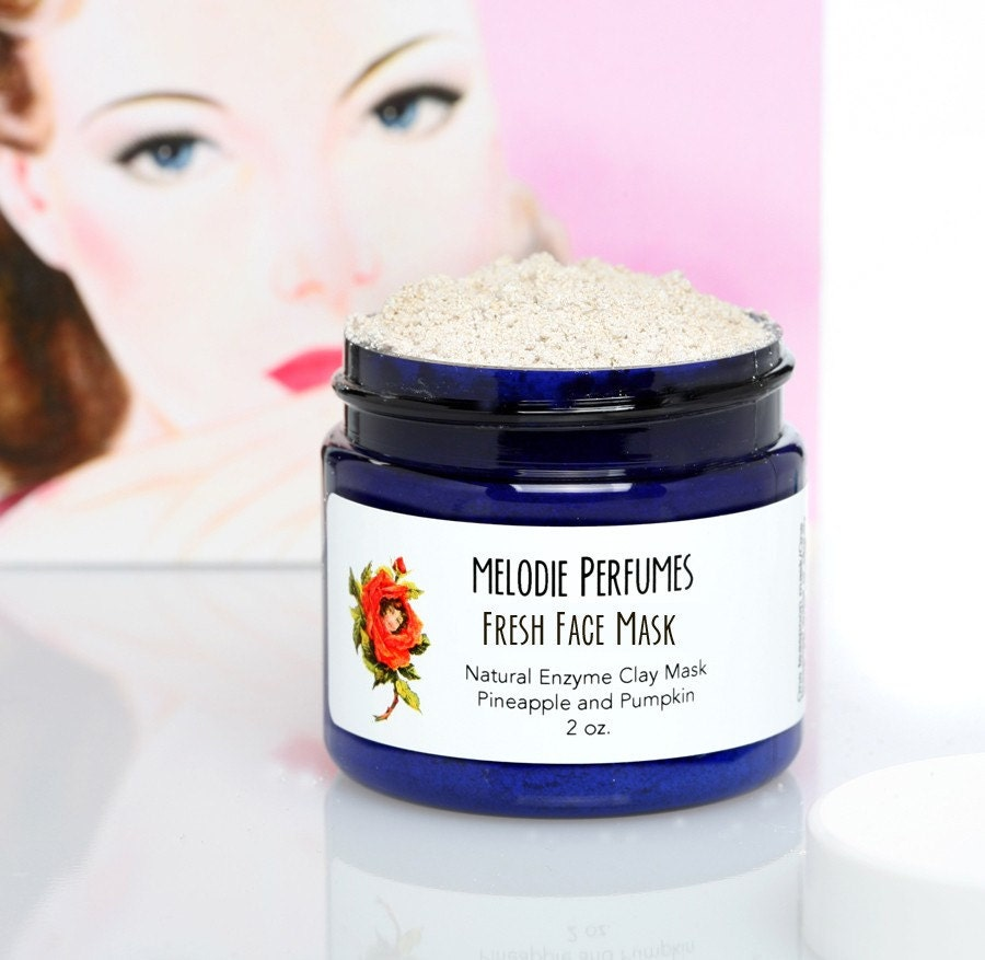 FRESH FACE ENZYME MASK with NATURAL Plant by melodieperfumes from etsy.com