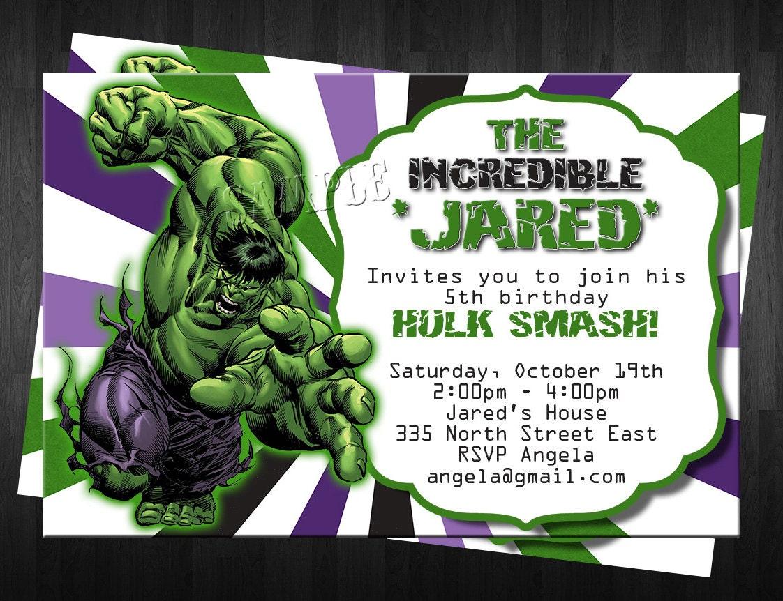 Hulk Birthday Invitations absolutely amazing ideas for your invitation example