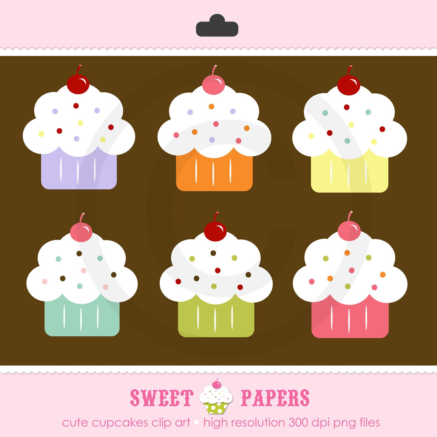 Cupcake Clipart With Faces Clip Art Cupcakes Clipart