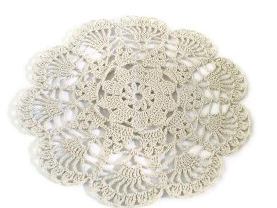 Kitchen Table decoration centerpiece, Crochet Flower doily Romantic ...
