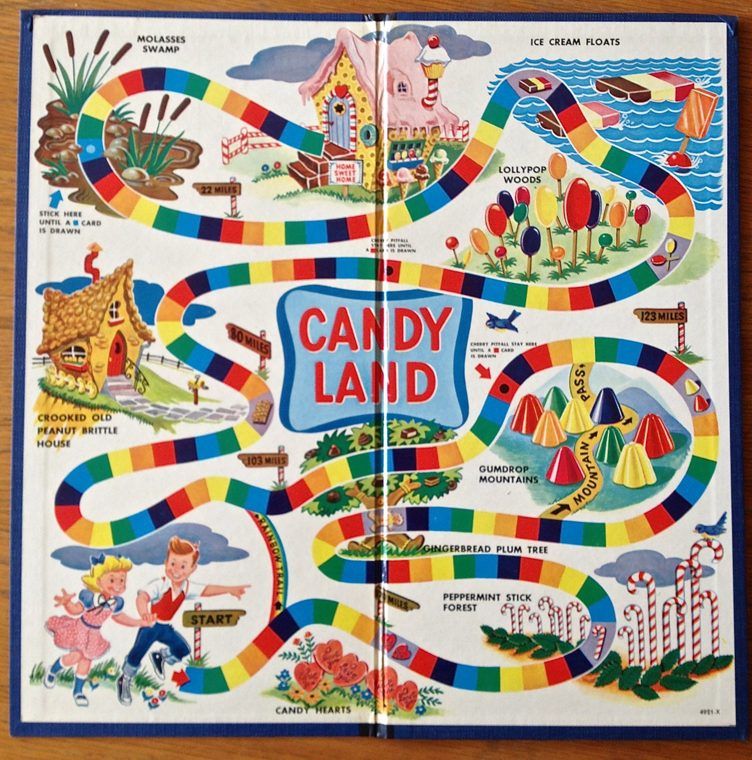 original candy land board game 1955 by 225waterstreet on etsy windows and metal stair minimalist house design home