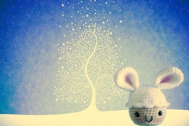 snowbunny cupcake