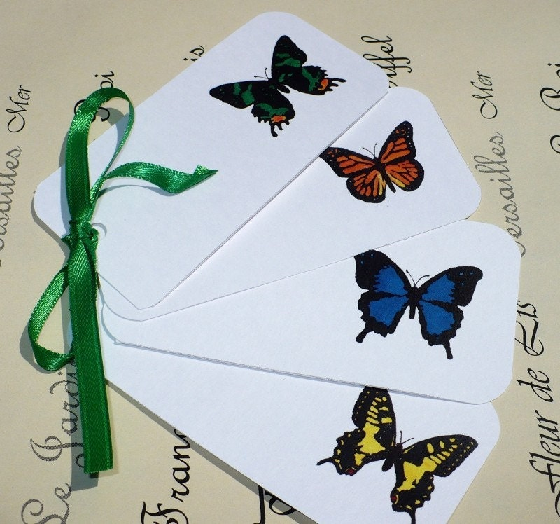 Happy Birthday Gift Tag. Butterfly Gift Tag Set