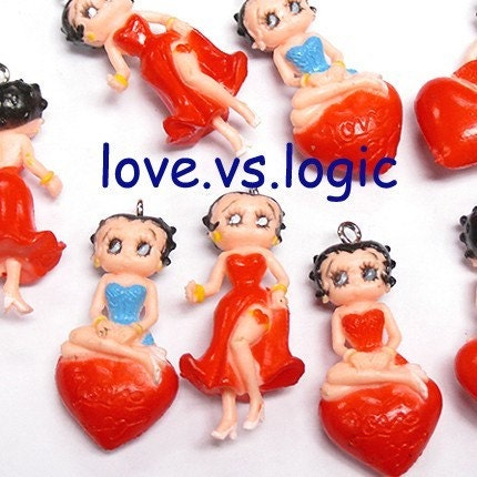 Betty boop soft plastic charms mix style by lovevslogic on etsy betty