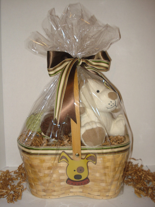 Little Puppy Diaper Basket - BOY