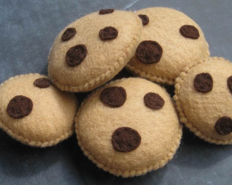 Chocolate Chip Cookie Felt Food