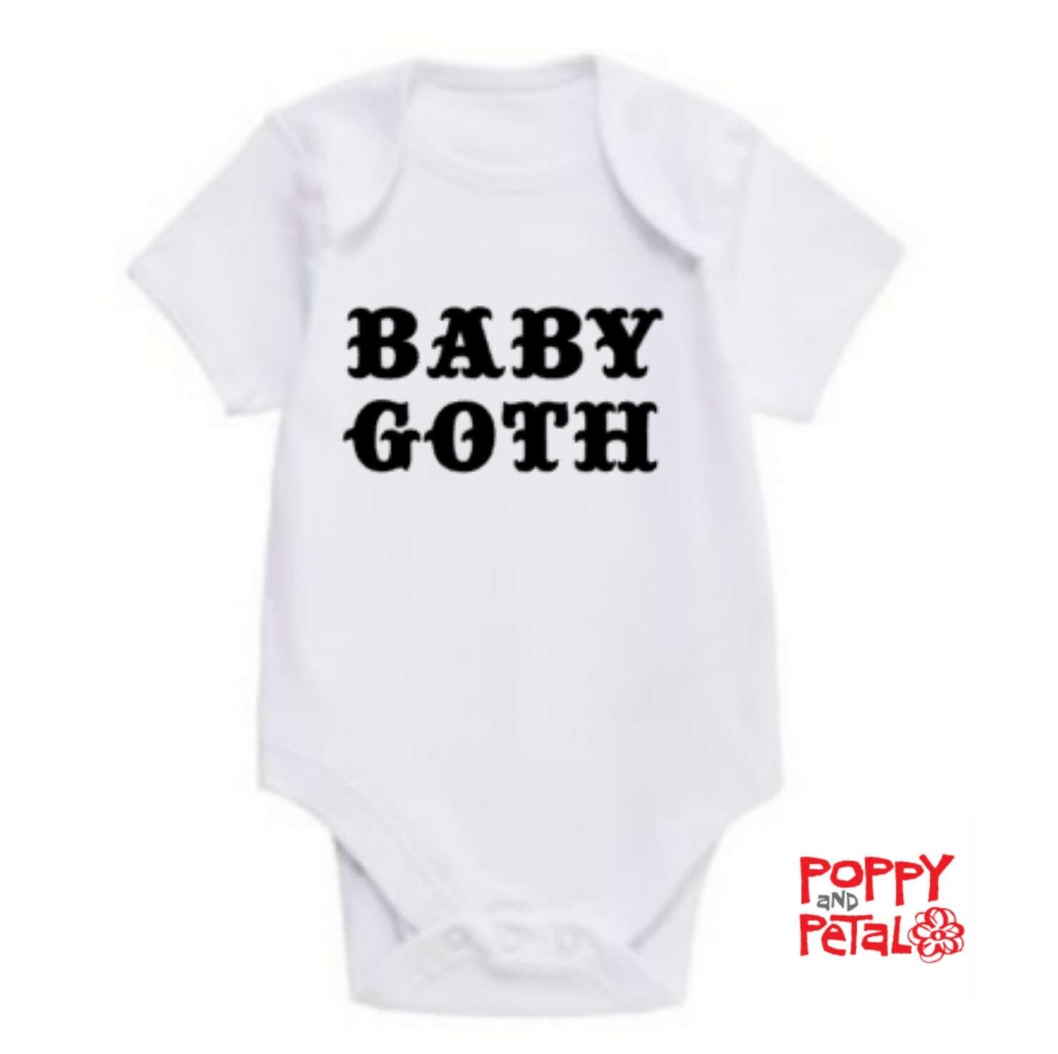 Baby Goth Baby Bodysuit Baby Vest Gothic Baby Gift Baby Shower Alternative Baby Sleeper Layette New Baby Infant Bodysuit