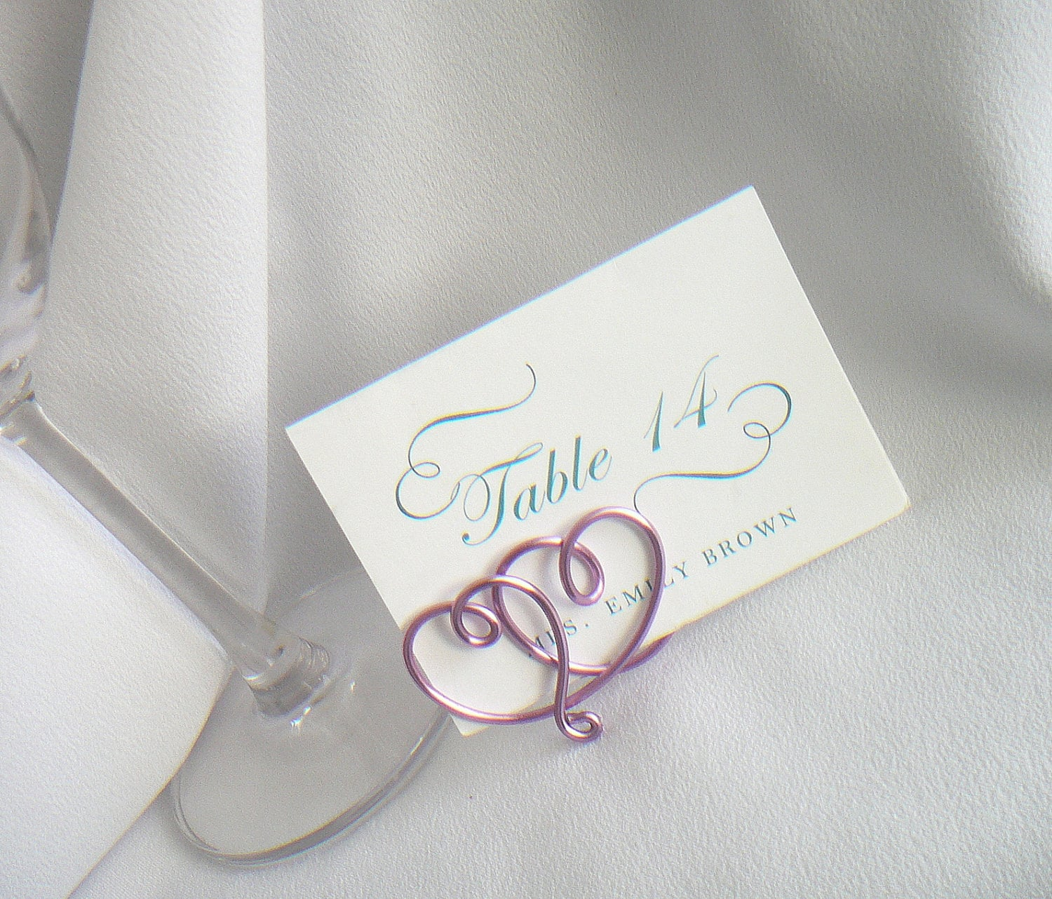 Wedding place card holders table settings by for Place settings name card holders