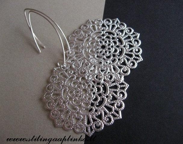 Earrings Snowflake light