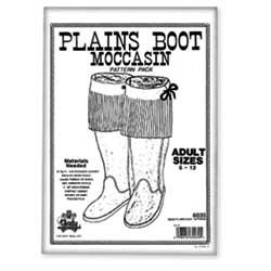 Native American Crafts and Supplies: Moccasin Pattern, Plains Boot