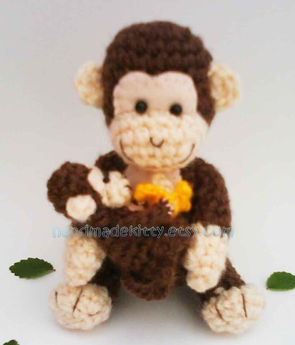 Ravelry: AndreaDanielle's Lily the Baby Monkey Amigurumi | 1107x948