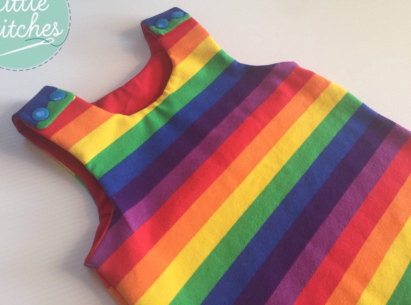 Rainbow Dungarees  Rainbow Harem Romper  Unisex Dungarees  Gender Neutral  Bright Romper  Jersey Dungarees  Rainbow Baby Outfit