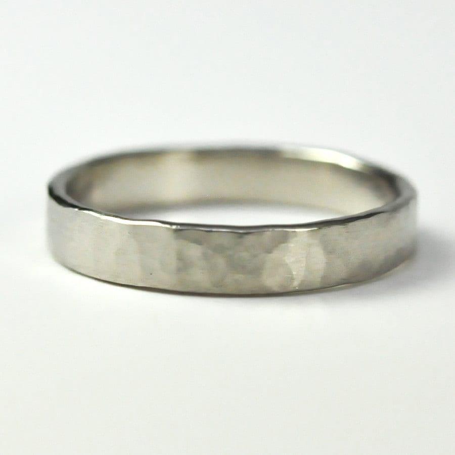 14k palladium white gold 4mm wedding band by seababejewelry