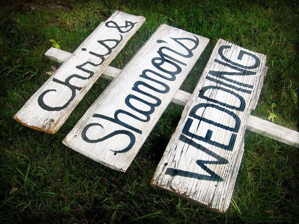 CUSTOMIZED Barn Wood Wedding Sign