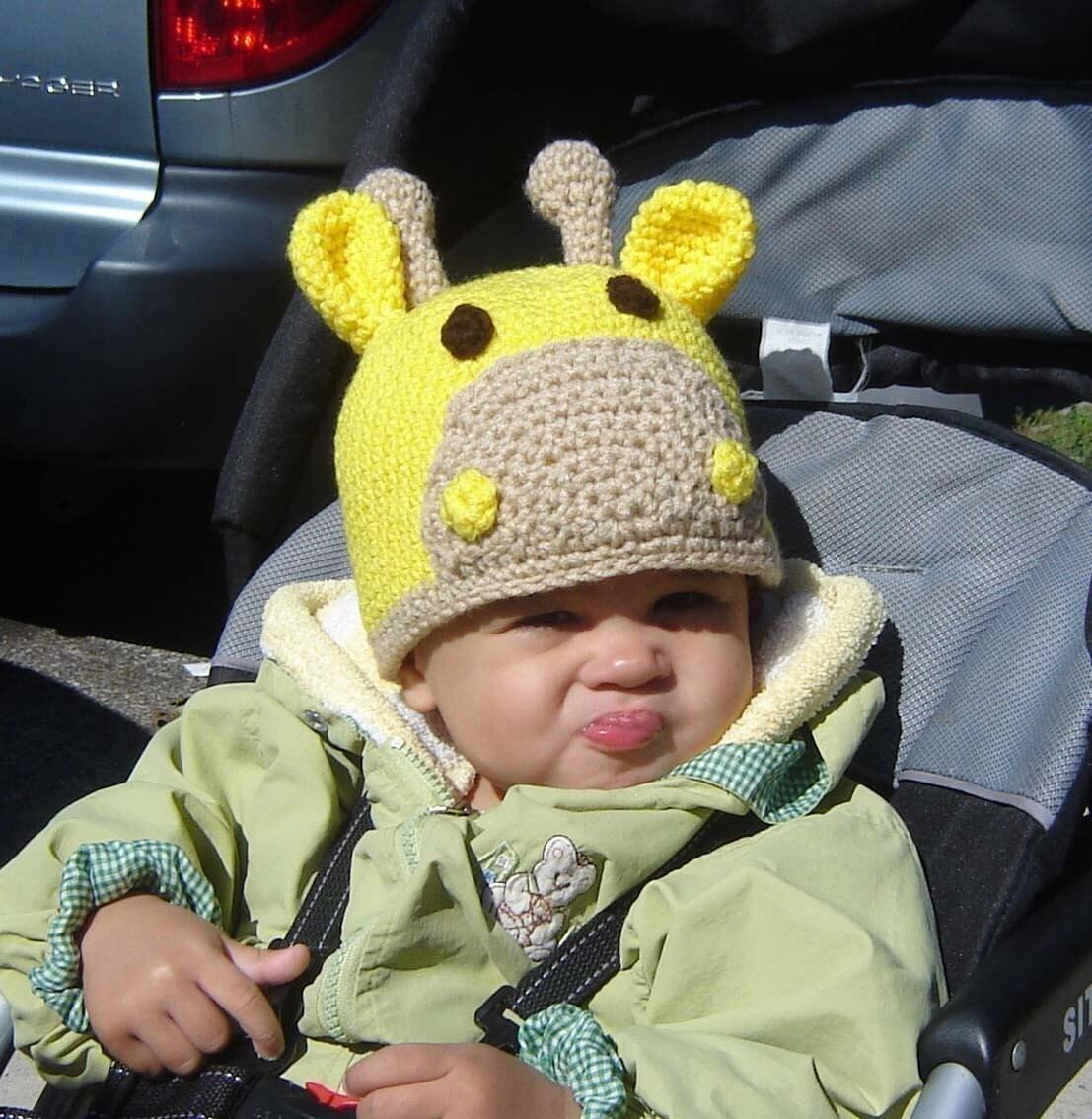 Pdf giraffe beanie crochet pattern no024