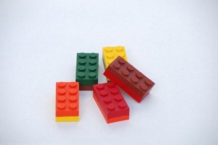 Building Block Crayons Upcycled / Recycled in by EtsyForCharity