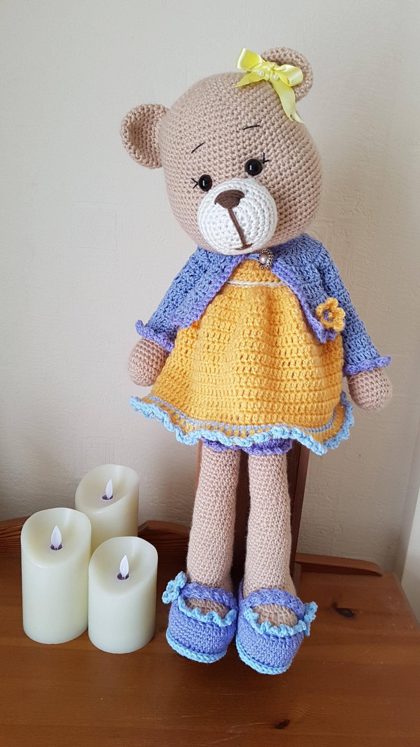 Hand crochet soft toy Teddy