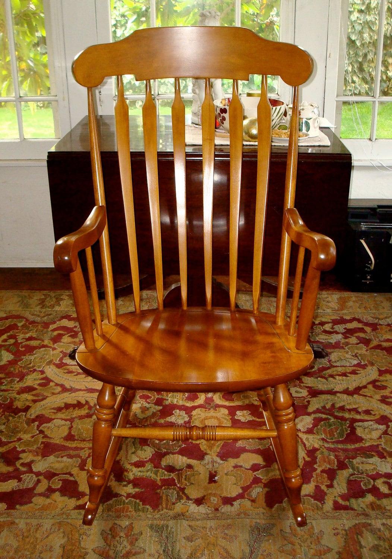 Nichols & Stone Co. Windsor Maple Rocking Chair Made in Gardner Mass ...