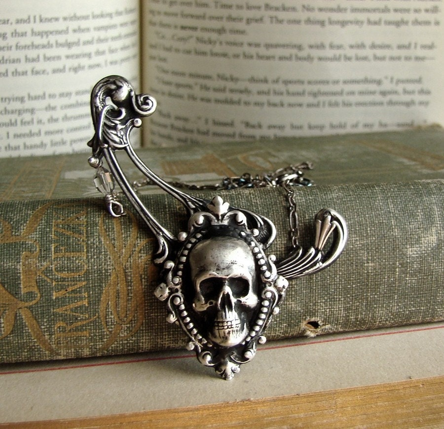 Evangelic - Skull Cameo - Asymmetrical Neo Victorian Necklace