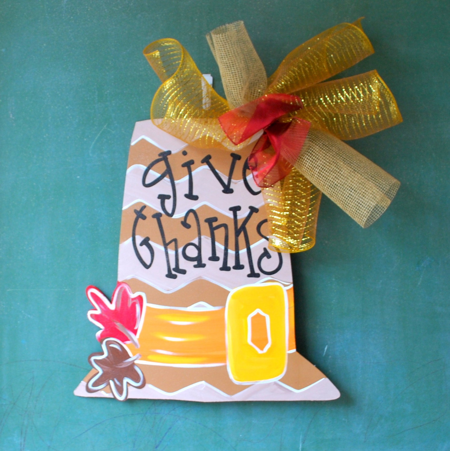 Decorating Ideas > Door Hanger Thanksgiving READY TO SHIP Pilgrim By  ~ 070224_Thanksgiving Decorations On Etsy