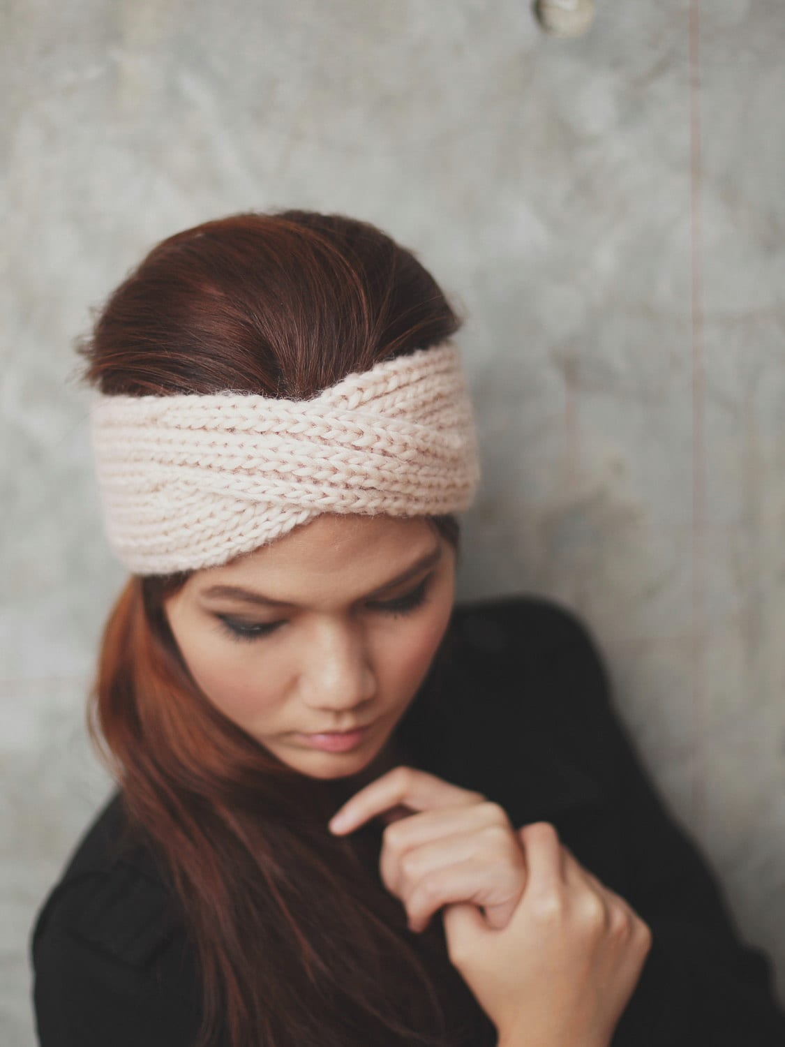 Head warmer knitting pattern anaffo for knit turban headband old pale peach 100 percent by rumraisina head warmer knitting pattern dt1010fo