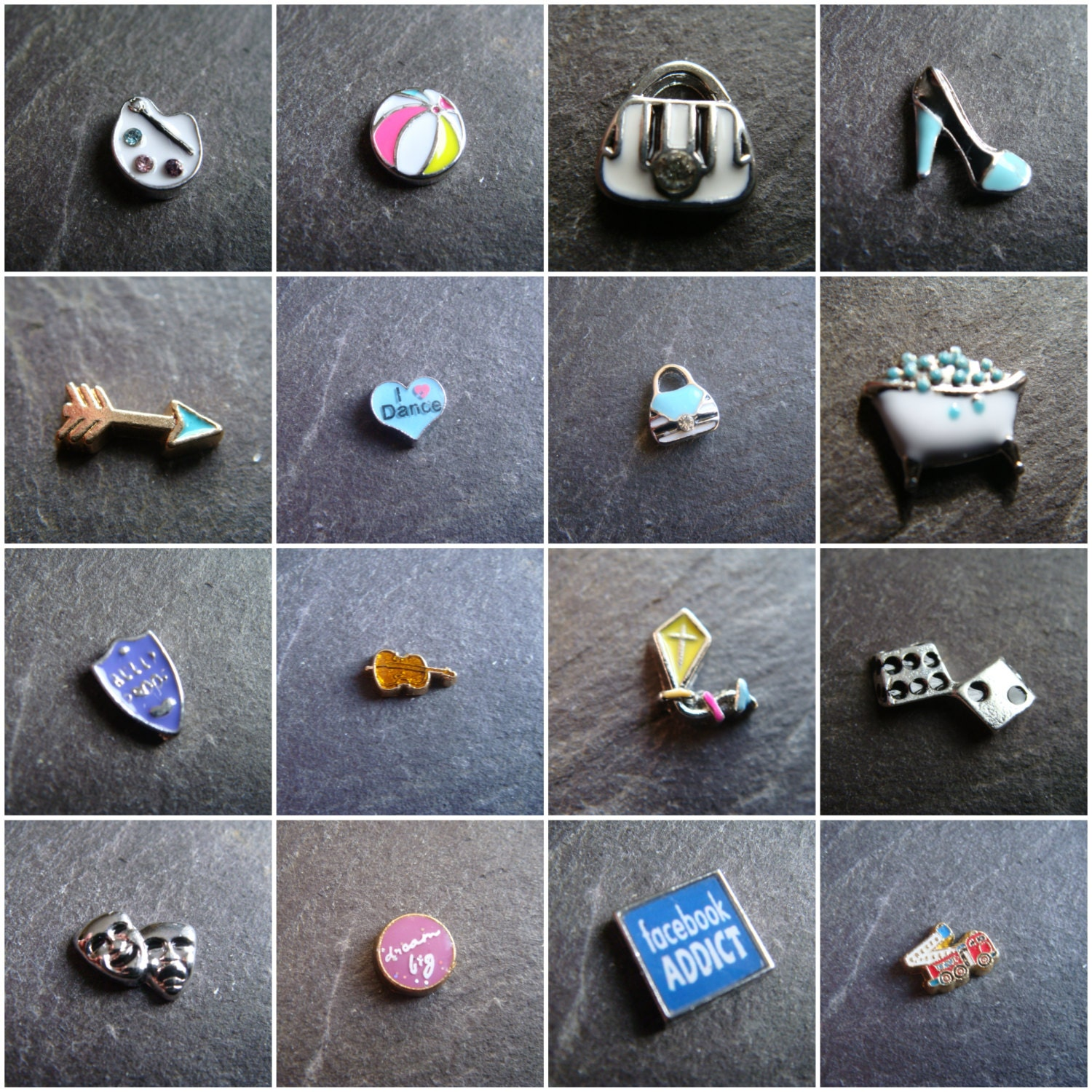 Hobbies  Occupations Floating Charms  for Floating Memory Lockets