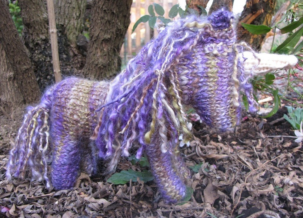 CUSTOM ORDER FOR NICOLE Pegasus Unicorn Horse, Merino Yarn