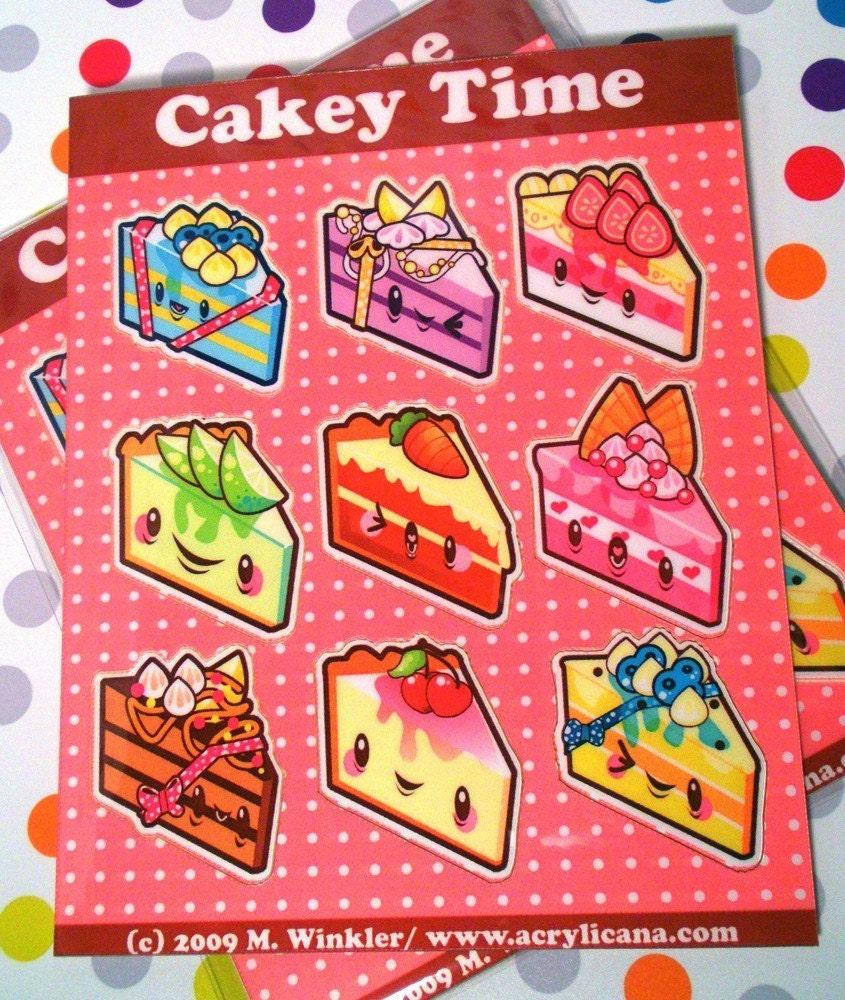 Cakey Time Sticker Sheet