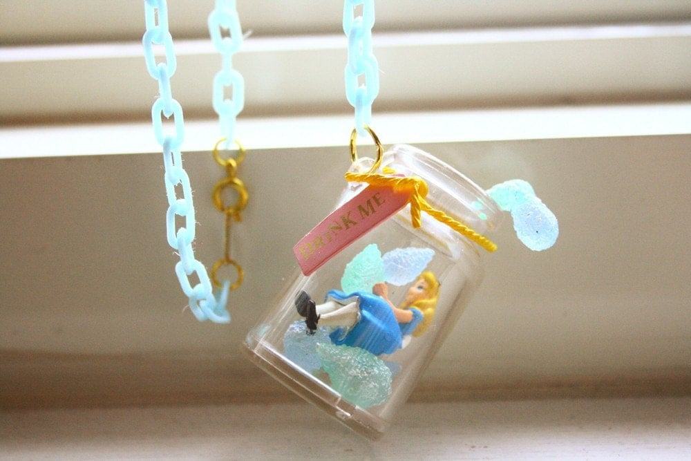 Drink me bottle Alice in Wonderland necklace
