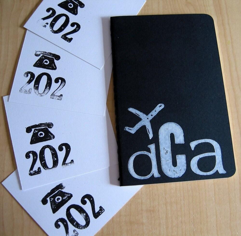 Washington, DC - Black Jet Set Journal and 4 Area Code Notes
