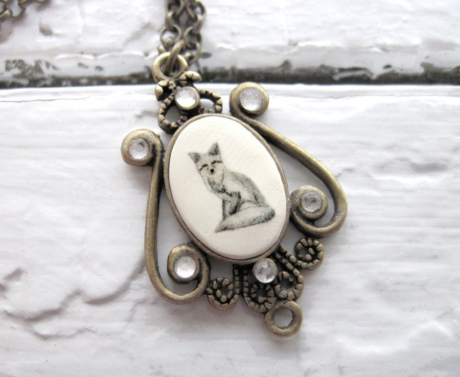 Necklace- Framed Fox Pendant