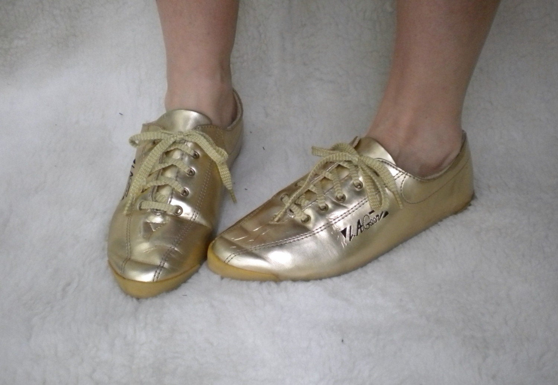 Vintage Metalllic GOLD LA Gear Aerobic Tennis Shoes 8