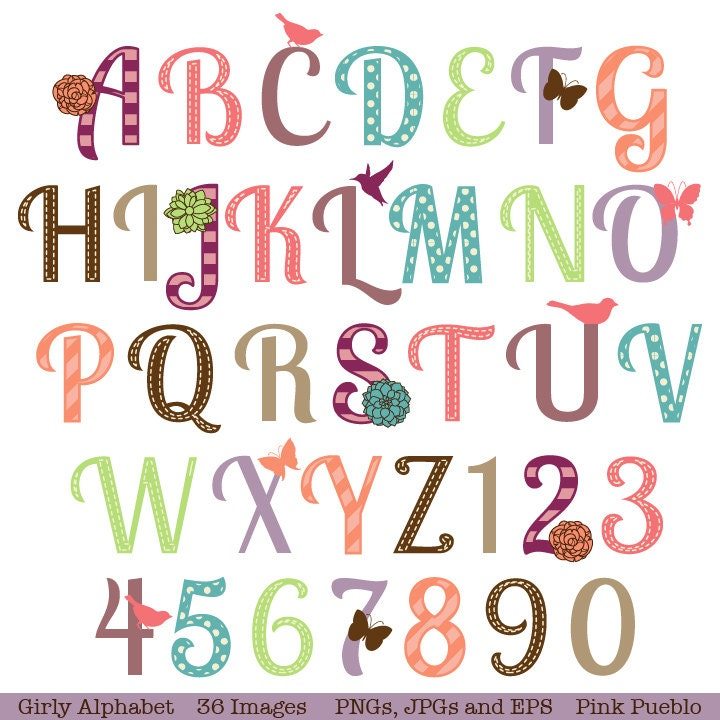 Girly Alphabet Fonts girly font alphabet Girly