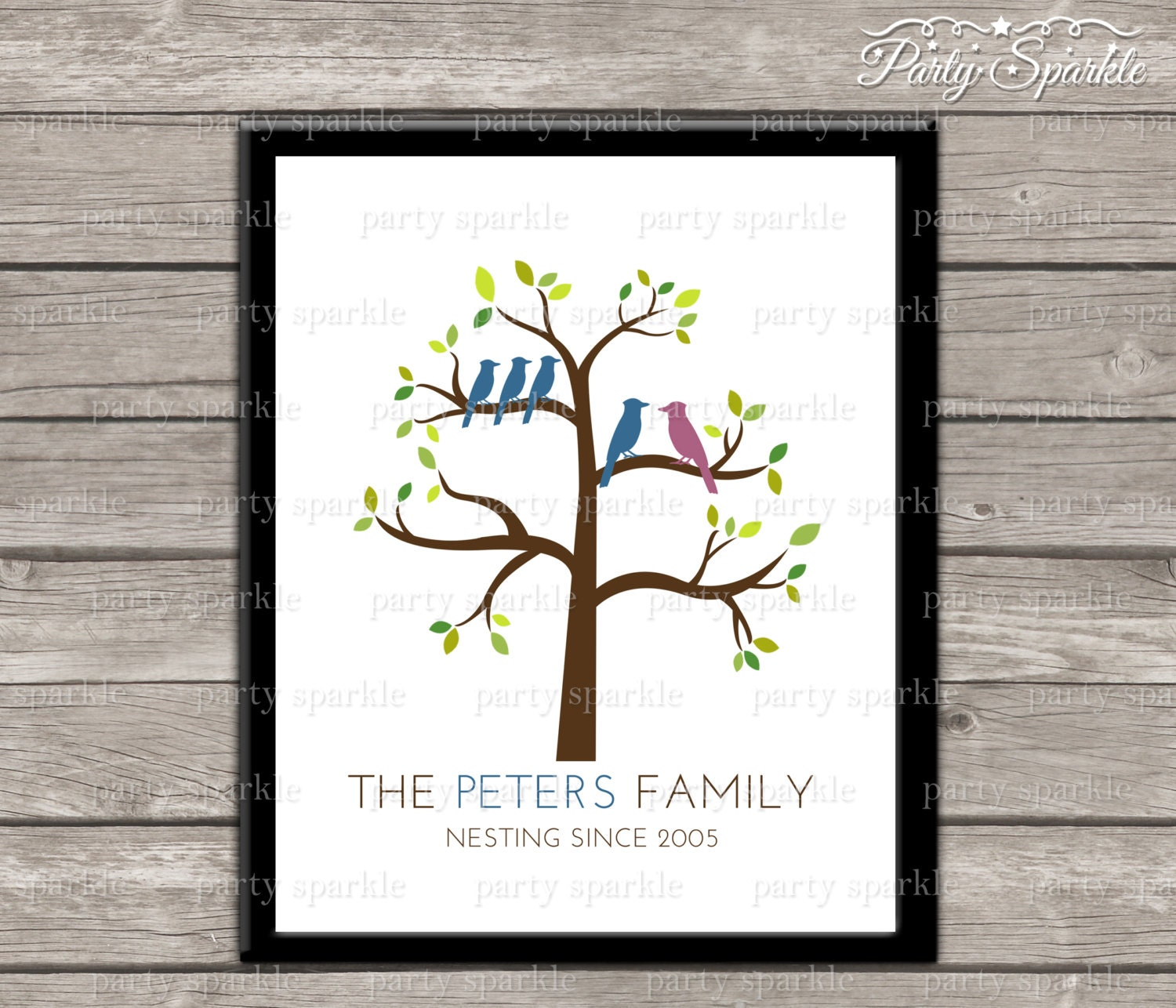 Etsy Family Wall Decor : Printable family tree wall art home decor custom by