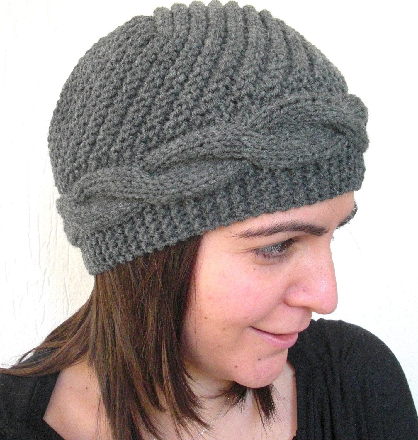 Victorian  Hat   Hand Knit  BERETWinter Accessories by Ebruk from etsy.com